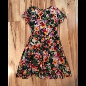 Jersey floral babydoll dress